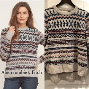 Abercrombie & Fitch fair Isle Sweater size Med